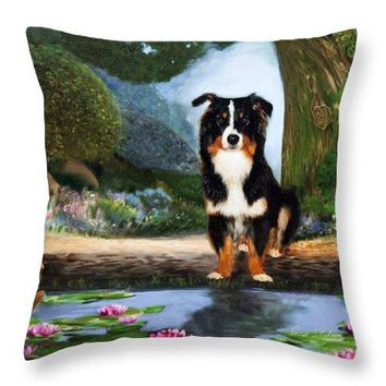 Border Collie  - Throw Pillow