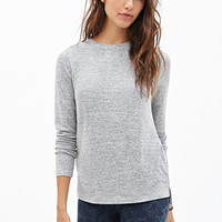 FOREVER 21 Classic Heathered Knit Top