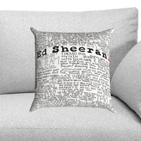 Ed Sheeran Custom Pillow Case for One Side and Two Side