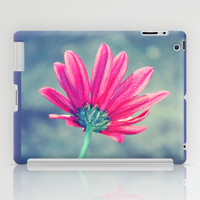 Turn Away - Emerald And Raspberry Daisy Macro iPad Case by Tangerine-Tane