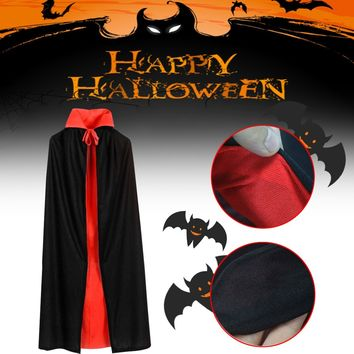 Adult Kids Dracula Devil Cape Cosplay 3 Size Halloween Vampir Cloak Reversible Costume Masquerade Gifts Costume Parties