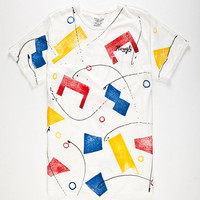 Mowgli Surf Neo Deco Mens Pocket Tee White  In Sizes
