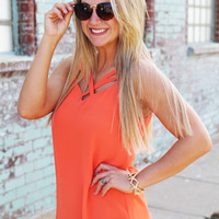 Plaza Nights Tank {Coral}