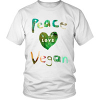 Peace Love Vegan T-Shirt | Vegan Shirts