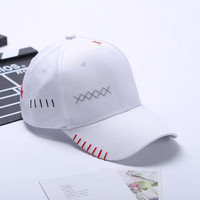 korean Female baseball cap blank hats summer plain Dad Hat white polo caps 2017 cotton caps baseball hats for women style