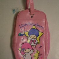 1989 Sanrio Little Twin Stars Kiki Lala Shoe Bag Made in Japan Pink NOS A