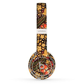 The Colorful Floral Pattern with Strawberries Skin Set for the Beats by Dre Solo 2 Wireless Headphones