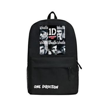 Cool Backpack school Zshop What Makes You Beautiful Boy's Backpack One Direction Daypack Fashion Famous Singer 1D Backpack Cool High School Bag AT_52_3
