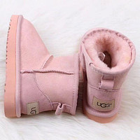 UGG Women Fashion Wool Snow Boots Sheos
