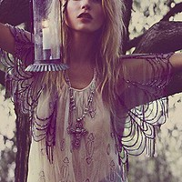 Free People Clothing Boutique > Beaded Fringe Flapper Tank