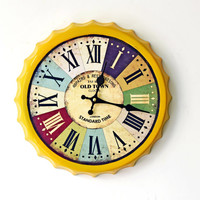 Innovative Iron Roman Wall Sticker Home Decor Clock [6451856518]