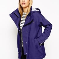 ASOS Parka in Cocoon Fit with Contrast Liner