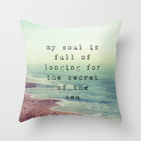 The Secret Of The Sea Throw Pillow by Ally Coxon   Society6