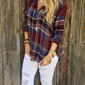Ellison Plaid Top