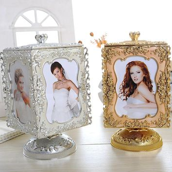 39-211 Originality Rotating Frame Music Box 16017A Originality Can Exchange Photo More Function The Music Box