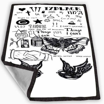 Harry Styles Tattoo Blanket for Kids Blanket, Fleece Blanket Cute and Awesome Blanket for your bedding, Blanket fleece **