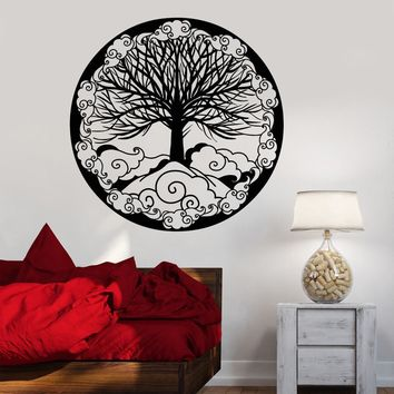 Vinyl Wall Decal Tree Of Life Family Symbol Ornament Fantasy Stickers Unique Gift (1481ig)