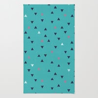 TRY ANGLES / swimming Rug by DANIEL COULMANN