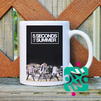 5 Seconds of Summer Band Perfomance Coffee Mug, Ceramic Mug, Unique Coffee Mug Gift Coffee