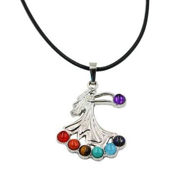 Hinduism Mandala Zen Tree Of Life Healing Reiki Meditation 7 Chakras Necklaces&Pendants Yoga Jewelry collier femme  bijoux Women style17