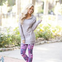 Pink n Blue Aztec Leggings