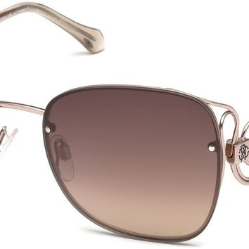 Roberto Cavalli - RC1027 Carrara Shiny Light Bronze Sunglasses / Brown Mirror Lenses