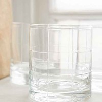 Grid Double Old Fashioned Glass Set