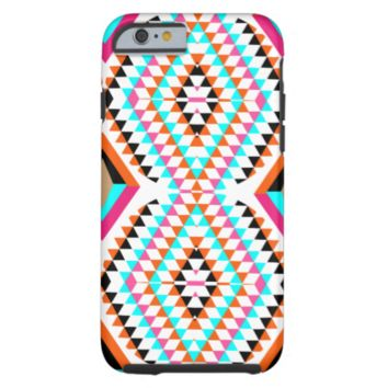 Colorful Fresh Geometric Triangle Graphic Tough iPhone 6 Case