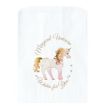 Custom Unicorn Wishes Party Favor Bags