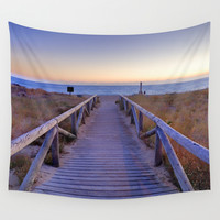 The path..., the beach.... Wall Tapestry by Guido Montañés