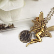 Steampunk Fairy Necklace with Faery Dust Bottle