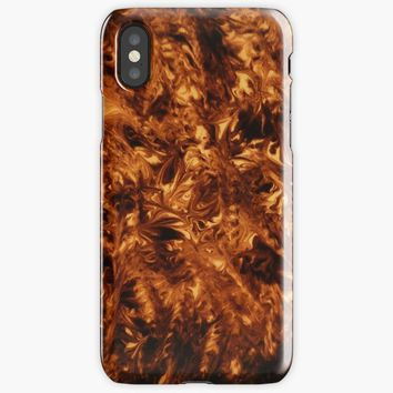 Polished Tortoise Shell Art Deco Cover iPhone X Case