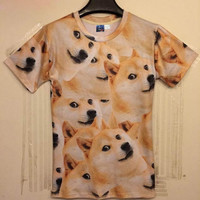 New Summer Men/Women 3d t-shirt funny print animals yellow dogs tops tees Tshirt fashion DT109