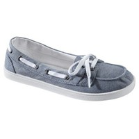 Womens Mossimo Supply Co. Litzy Canvas Boat Skimmer - Chambray