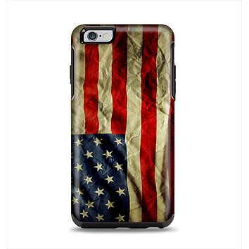 The Dark Wrinkled American Flag Apple iPhone 6 Plus Otterbox Symmetry Case Skin Set