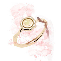 Love Seal Gold Ring Watercolor Fashion by LoveLustArtKteis