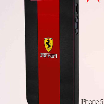 Ferrari Logo Red Black Design iPhone 5 Case