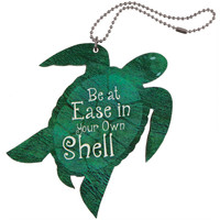 In Your Own Shell Sea Turtle Car Charm