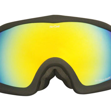 Black Warped Goggles Yellow Lens