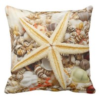 Starfish and assorted seashells