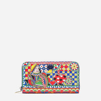 Women's Wallets | Dolce&Gabbana - ZIP-AROUND WALLET IN PRINTED DAUPHINE CALFSKIN