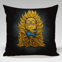 little minions like bananas Square Pillow Case Custom Zippered Pillow Case one side and two side