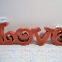 eBlueJay: Red Love Script Sign Valentines Day Home Decor