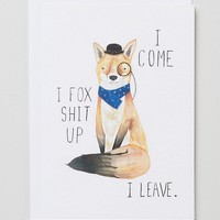 Jolly Awesome I Fox Shit Up Card at asos.com