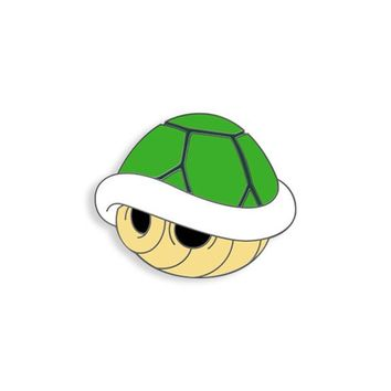 Green Turtle Shell Pin