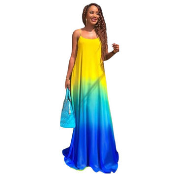 2017 Women Sexy Boho Summer Dresses Casual Chiffon Vestidos Evening Party Beach Long Maxi Dress
