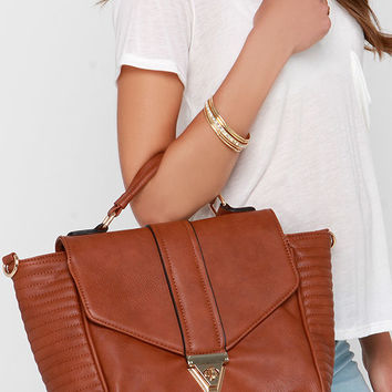 Run This Town Tan Handbag