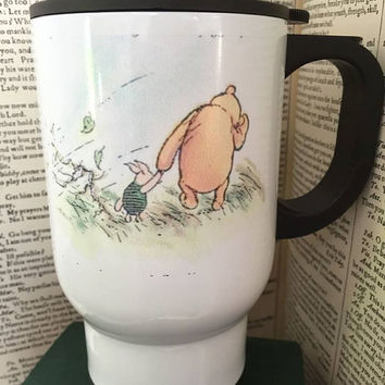 "Personalise - Winnie the Pooh, ""How Lucky"" mug or travel mug"
