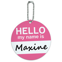 Maxine Hello My Name Is Round ID Card Luggage Tag