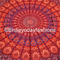 Mandala Hippie Hippy Tapestry indian Wall Hanging Throw Cotton fabric Bedcover Bohemian Bedsheet Decor Bed Spread Ethnic Decorative wall Art